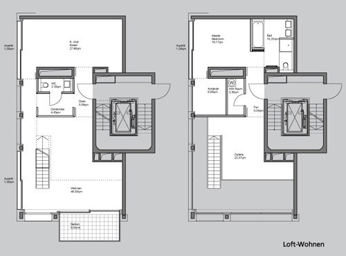 loftwohnen lenbachg rten muenchenarchitektur. Black Bedroom Furniture Sets. Home Design Ideas