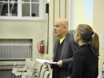 Die Veranstalter: Kaye Geipel und Friederike Meyer, Bauwelt | Foto: Andrea Altemüller
