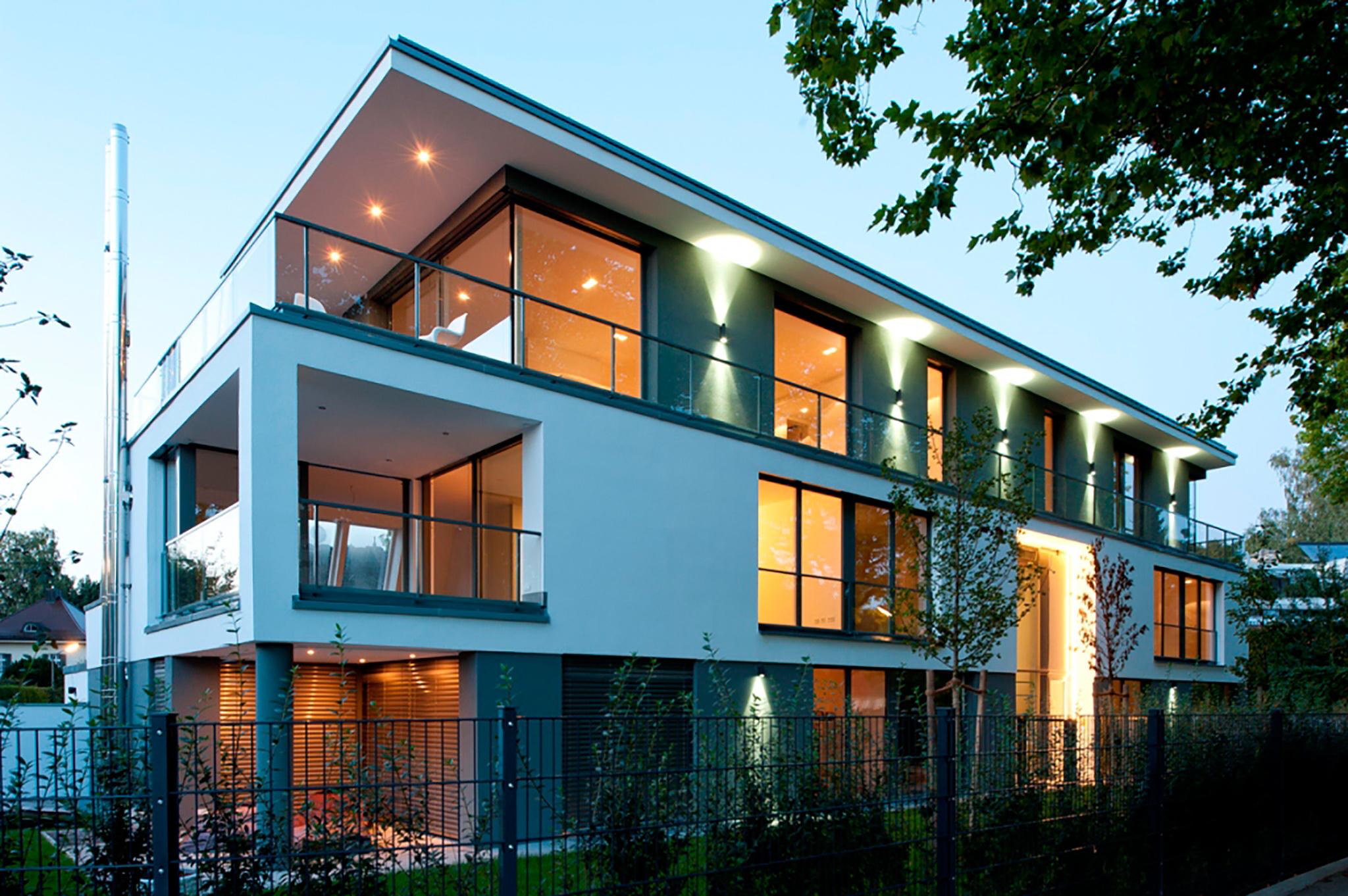 Mehrfamilien villa edition m10 muenchenarchitektur for Modernes haus licht