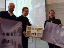 Andreas Hild mit Andreas Steinfatt, Hacker-Pschorr Brauerei und Kai-Uwe Ludwig, Bayerische Hausbau