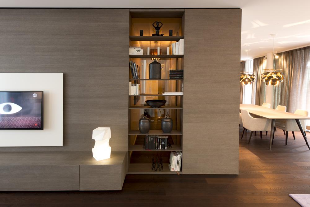 Bucherregal Design Carpanelli Wohnung Highlight