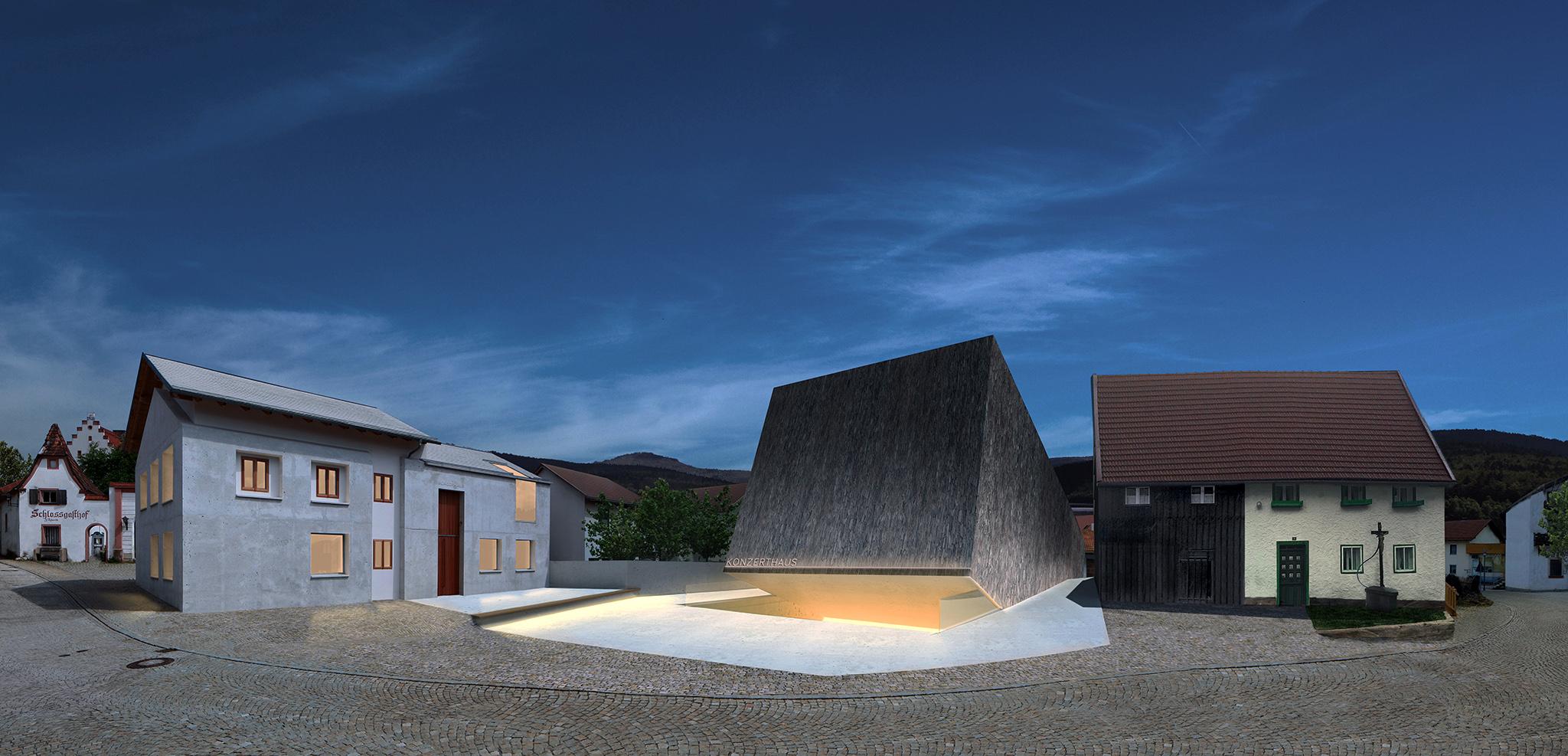 Ein konzertsaal f r blaibach muenchenarchitektur for Minimalismus im haus buch