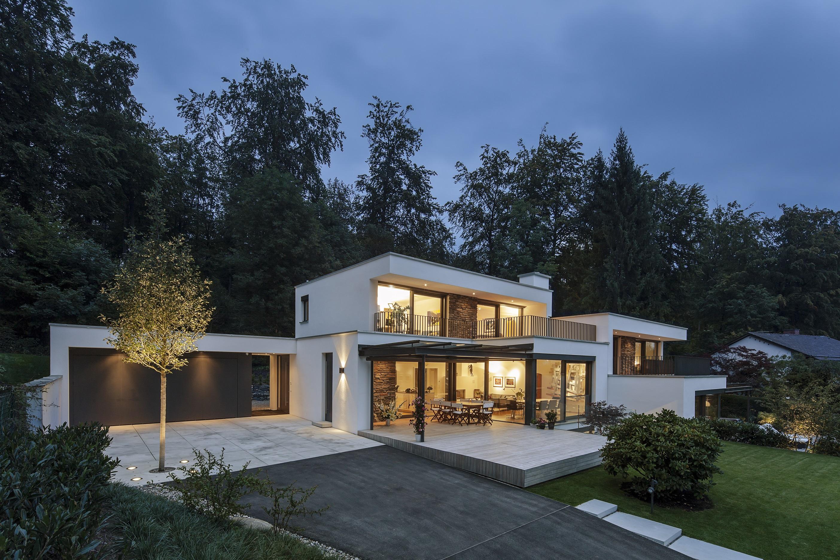 zwei villen am hang muenchenarchitektur. Black Bedroom Furniture Sets. Home Design Ideas