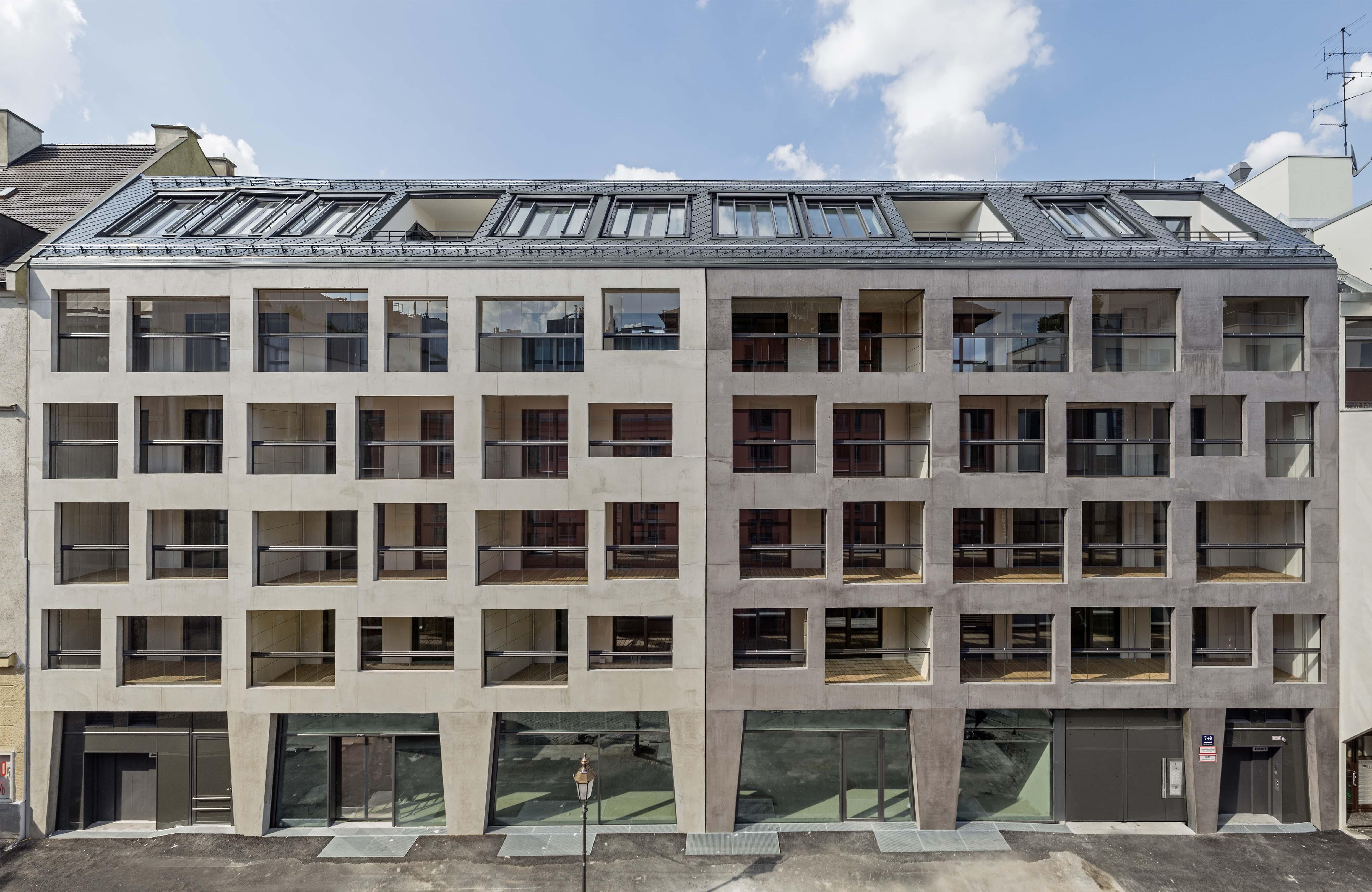 Wohn und gesch ftshaus mona i co muenchenarchitektur for Architektur 80er jahre