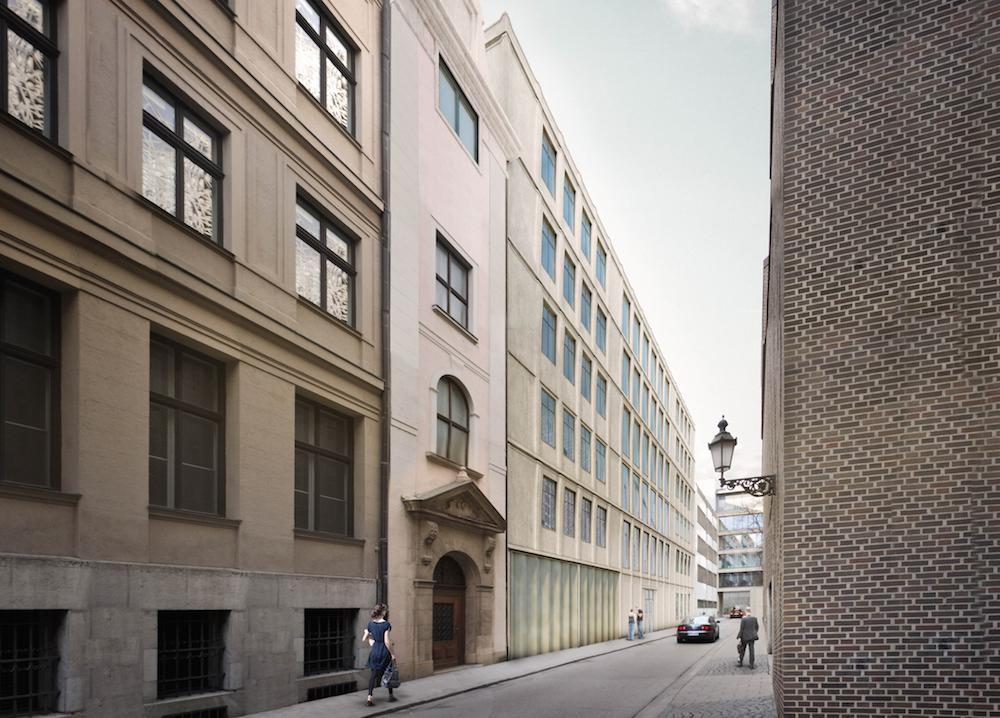 siegerentwurf prannerstrasse muenchenarchitektur. Black Bedroom Furniture Sets. Home Design Ideas