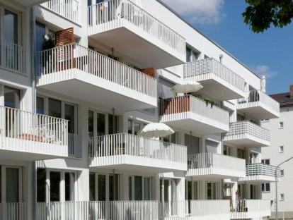 Passivhäuser der GEWOFAG in der Piusstraße in Berg am Laim © GEWOFAG