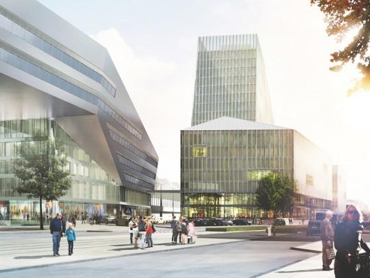 BILD:   Umstrittener Turm des Hauptbahnhofs