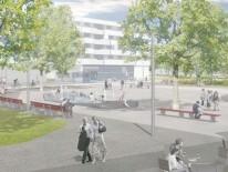 BILD:   Stadtplatz am Ackermannbogen
