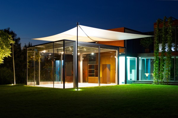 Gl serner pavillon in oberbayern muenchenarchitektur for Design hotel oberbayern