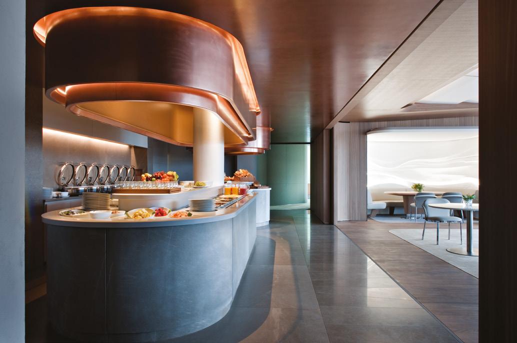 dachgarten designer lounge hotel wandgestaltung edle materialien