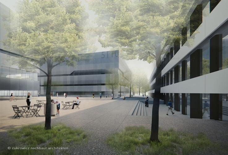 neubau auf campus garching muenchenarchitektur. Black Bedroom Furniture Sets. Home Design Ideas