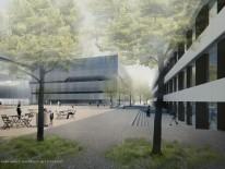 BILD:   Neubau auf Campus Garching