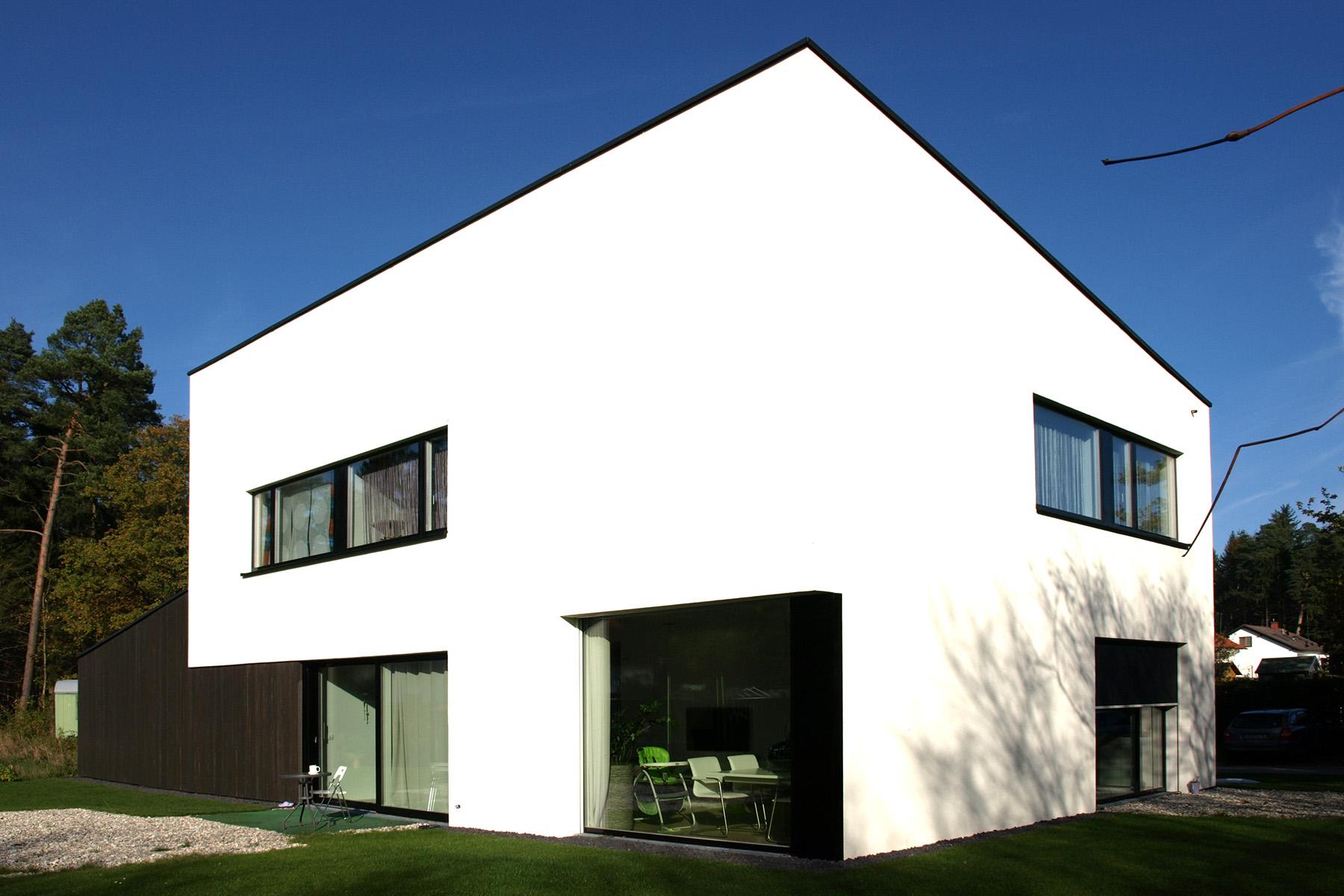 einfamilienhaus mit pultdach muenchenarchitektur. Black Bedroom Furniture Sets. Home Design Ideas