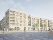 Für die Realisierung empfohlen: Visualisierung Perspektive Quartiersplatz; © Prinz-Eugen-Karree GmbH & Co. KG c/o GVG GmbH, München