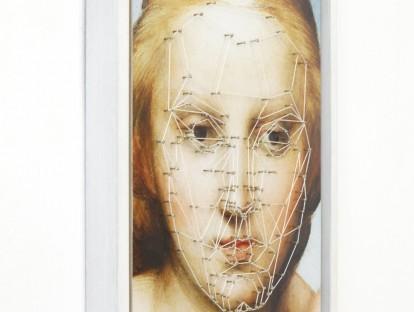 1. Marquardt - Nägel und Schnur auf Fine Art Print (Auflage 1/3) | 45 cm x 35 cm x 4,5 cm (mit Rahmen) | 2015