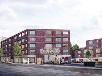 Paul-Gerhardt-Allee WA1, 1. Preis, Perspektive; Grafik: Palais Mai Gesellschaft von Architekten und Stadtplanern