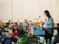 Impulsvortrag von Stadtbaurätin Prof. Dr. Elisabeth Merk. Foto: die urbanauten / Gabriela Neeb