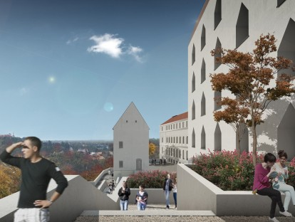 Ansicht Rosenterrasse, © gmp Architekten