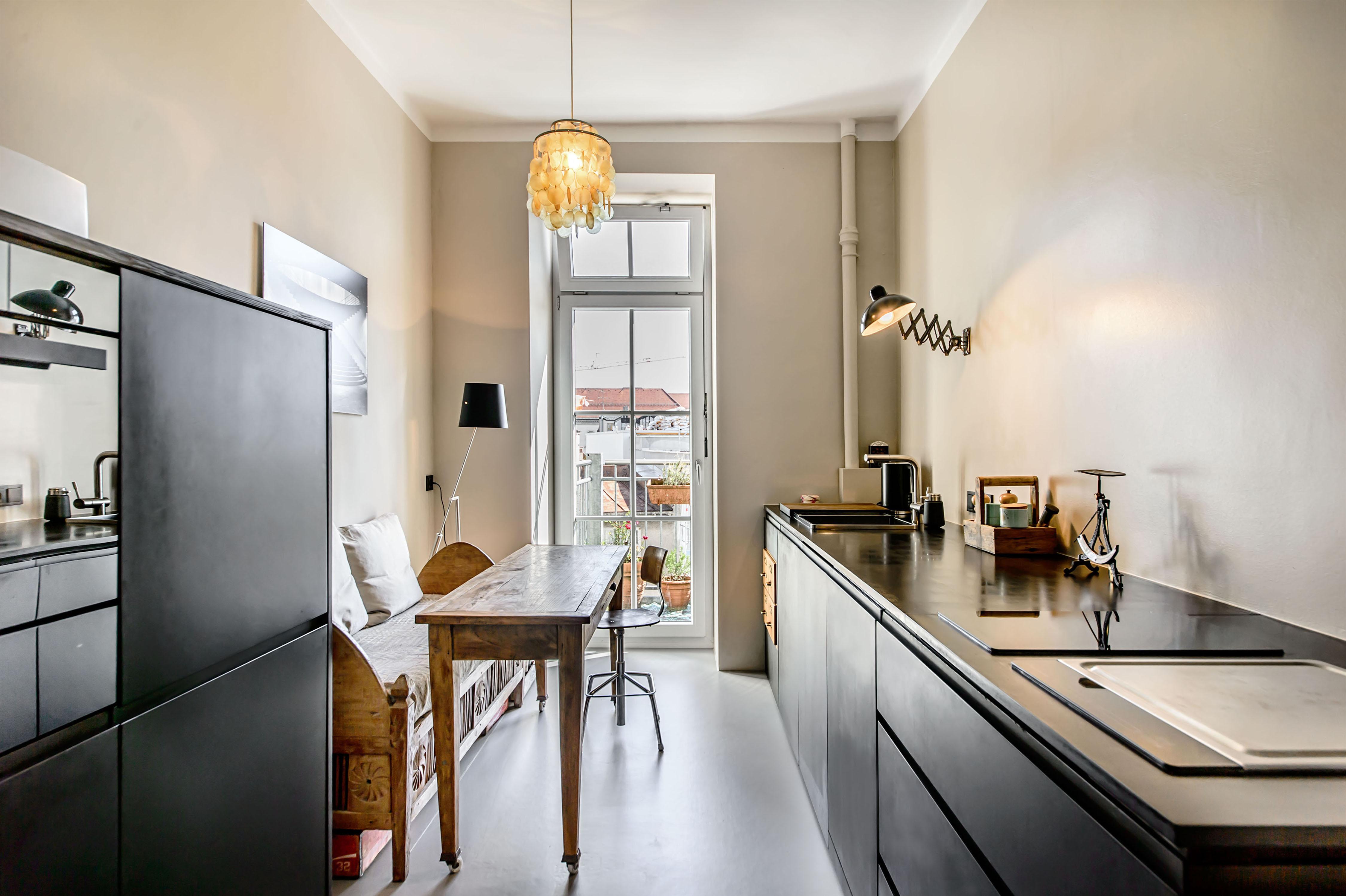 die schwarze k che. Black Bedroom Furniture Sets. Home Design Ideas