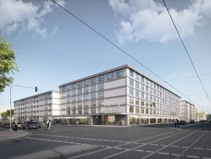 Blick auf Offenbachstraße/Landsberger Straße. © Meck Architekten