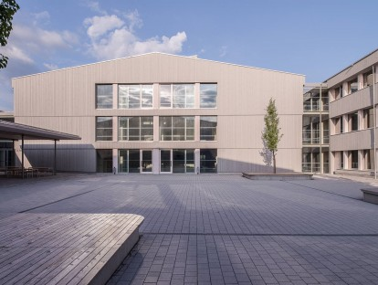 Schmuttertal-Gymnasium Diedorf. © proHolz Bayern/Petra Steiner