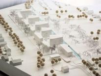 Entwurf zillerplus Architekten, Modellfoto Ostansicht. Quelle: Bayerische Hausbau