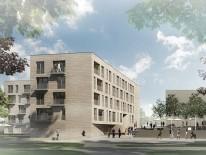 1. Preis, F64 Architekten. Visualisierung: Killius Ernst Architekten, München