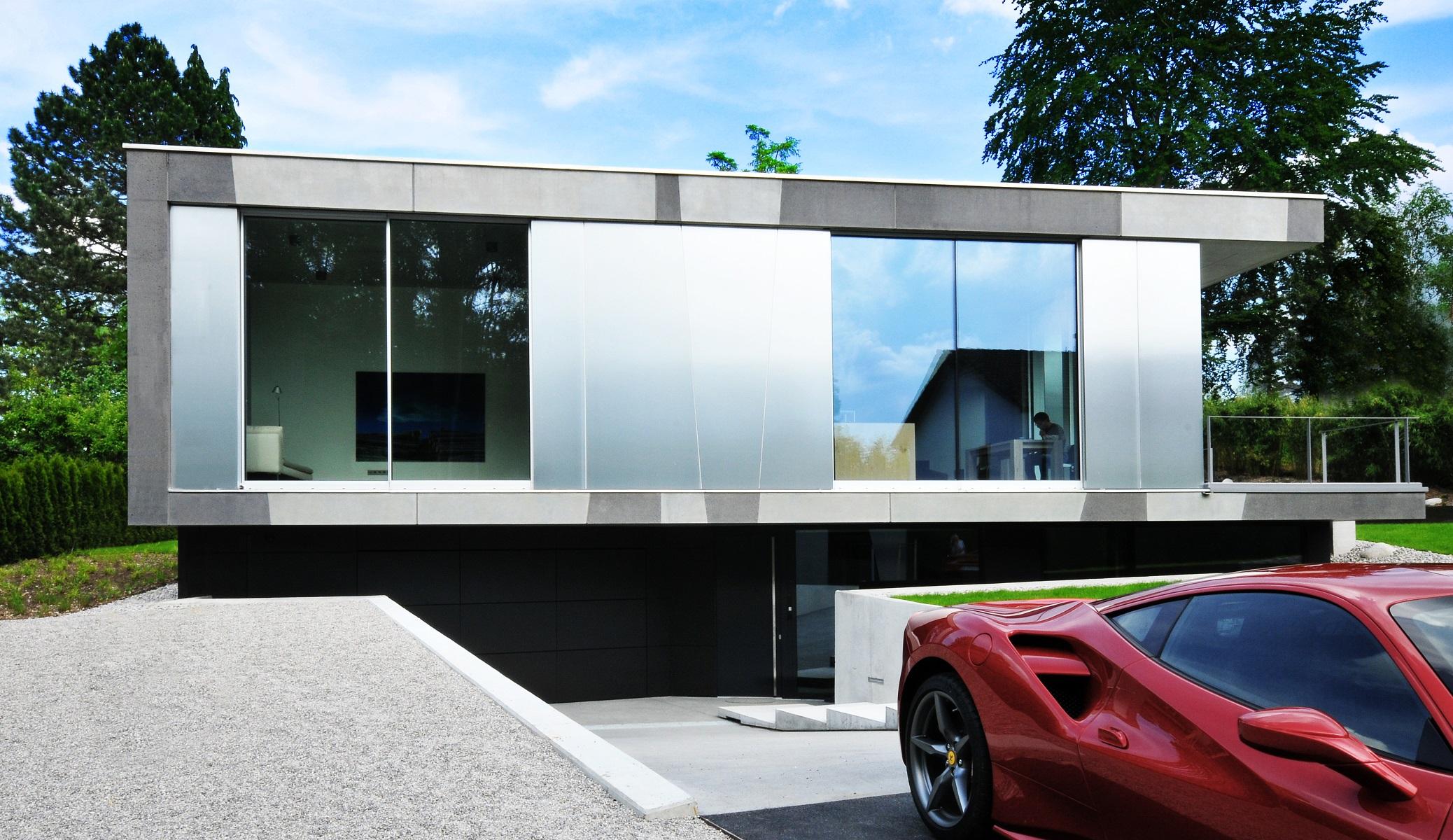 sichtbetonhaus in berg muenchenarchitektur. Black Bedroom Furniture Sets. Home Design Ideas