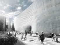 Illustration einer fertigen Gebäudefassade. © Professur für Entwerfen und Gebäudehülle / TUM