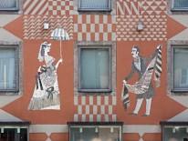 Fassade Am Rathauseck von Max Lacher.