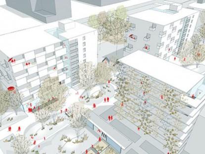 Perspektive. © Querkraft Architekten, Wien, mit Rajek Barosch Landschaftsarchitekten, Wien
