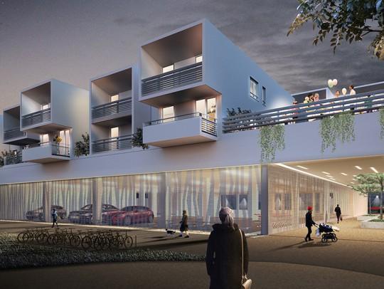 BILD:       Entwurf innovativer Wohnungsbau