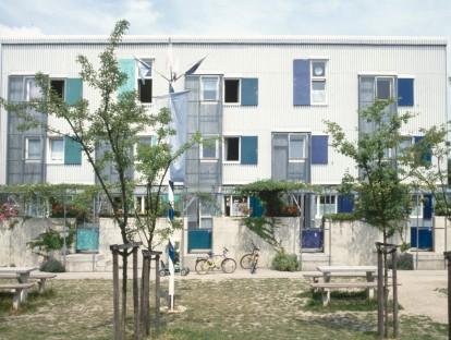 Siedlung Passau-Neustift, Hermann Schröder und Sampo Widmann, 1989. Foto: Sampo Widmann