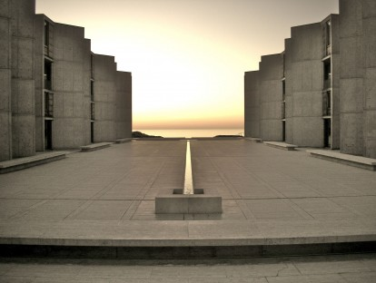 Salk Institute for Biological Studies. La Jolla, San Diego, California, USA. Architect: Louis Kahn