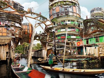 Shanty Megastruktur. © Olalekan Jeyifous.