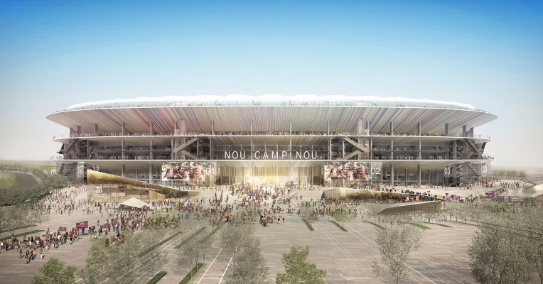 The Futur Camp Nou, Completed 2022, Sports Stadium, Barcelona