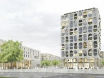 BILD:   Neuer Quartiersplatz in Freiham