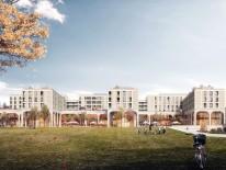 BILD:   Baubeginn für Perlach Plaza
