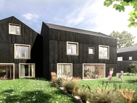 BILD:       Einzugsbereit: Drei elegante Häuser in Gauting
