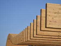 BILD:   Holzbauten für das Kreativquartier