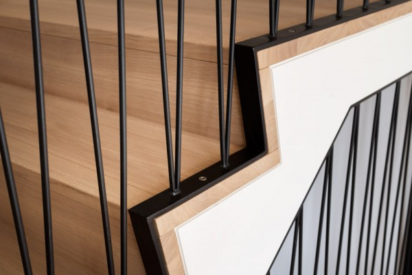 Detail Treppe, Haus West