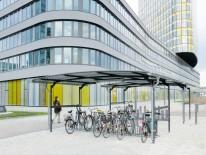BILD:   Ausgezeichnete Fahrrad- und Mehrzwecküberdachungen