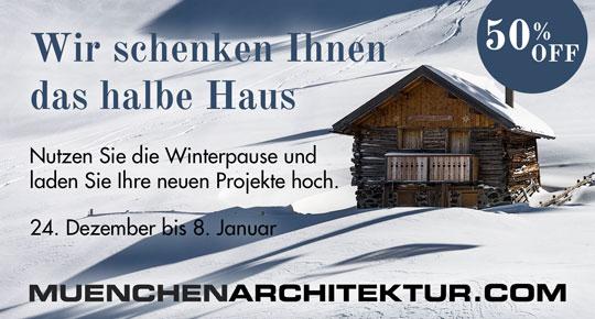 Architekturhighlights Winter-Special 50% Rabatt